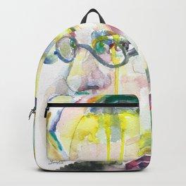 FERNANDO PESSOA - watercolor portrait.4 Backpack