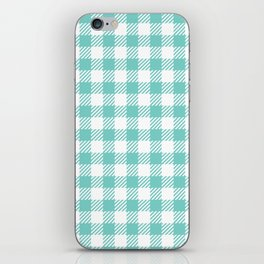 Turquoise Vichy iPhone Skin