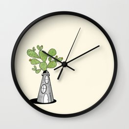 Prickly Pear Lighthouse Wall Clock
