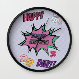 Happy Forced Affection Day Wall Clock