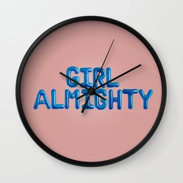 Girl Almighty Wall Clock