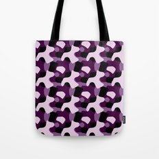 Purple Camo Pattern Tote Bag