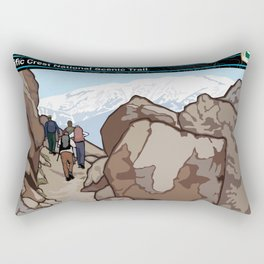 Vintage Poster - Pacific Crest National Historic Trail (2018) Rectangular Pillow