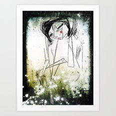 first breath after  coma... Art Print
