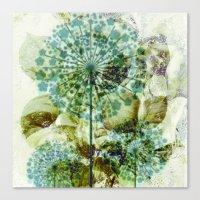 dandelion Canvas Prints featuring dandelion by clemm