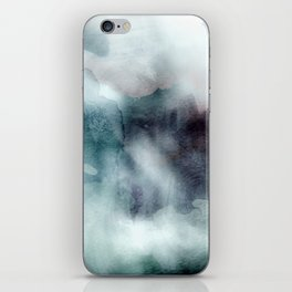 Watercolor ikat hipster pastel nautical blue purple ombre watercolour painting print iPhone Skin