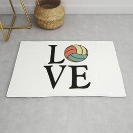 Volleyball Love - Vintage Sport Ball Design Rug