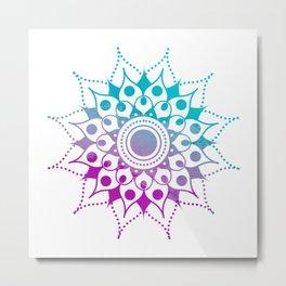 Mandala #2 (Purple Pink Turquiose) Metal Print