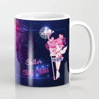 chibi Mugs featuring Sailor Chibi Chibi Moon by Neo Crystal Tokyo