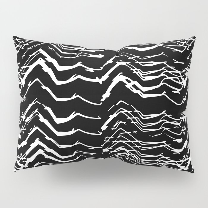 Dark Glitch Abstract Pattern Pillow Sham