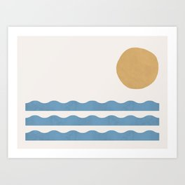 Sun Wave - Seascape Abstract  Art Print