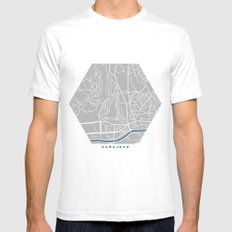 Sarajevo city map grey colour White SMALL Mens Fitted Tee