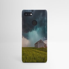 Rainy Day - Storm Passes Behind Barn in Southwest Oklahoma Android Case