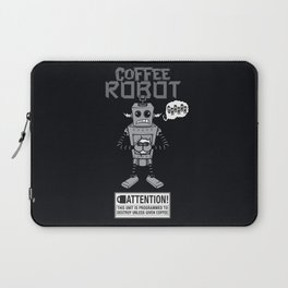 Coffee Robot Laptop Sleeve