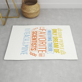 Science Teacher Gift Teachers Biology Chemistry Physics Scientist Rug