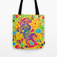 60s Tote Bags featuring BQ - Yas4Yas 60s Throwback by lessdanthree