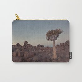 Desert Quiver Tree at dusk - Landscape photography #Society6 Carry-All Pouch