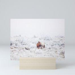 Two Winter Horses Mini Art Print