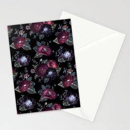 Fantasy Night Rose Red Stationery Cards