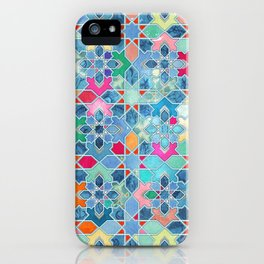 Pretty Pastel Moroccan Tile Mosaic Pattern iPhone Case