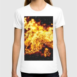 Fire in space T-shirt