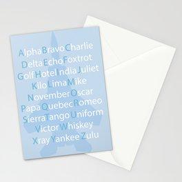 Phonetic Alphabet Stationery Cards