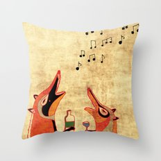 Fox fun Throw Pillow