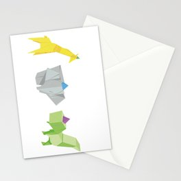 Origami Partyanimals Stationery Cards