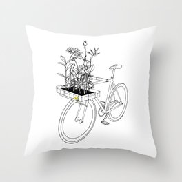 Wherever flowers go Throw Pillow