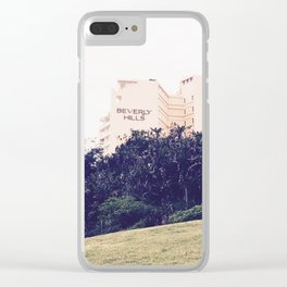 Beverly Hills Hotel Clear iPhone Case