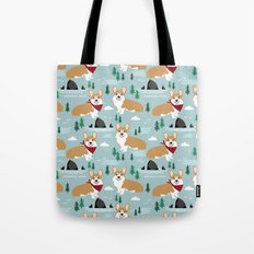 Corgi cannon beach oregon northwest vacation seaside welsh corgis Tote Bag