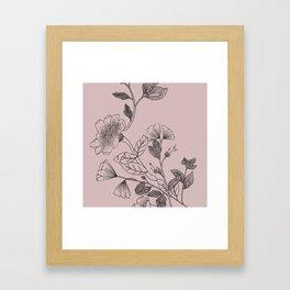 Botani Line II Framed Art Print