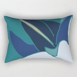 Bellflowers in Blue Rectangular Pillow