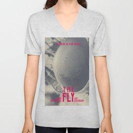 The Fly, horror movie poster, David Cronenberg, Jeff Goldblum, alternative playbill Unisex V-Neck