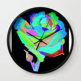 Rose Pop Art Wall Clock