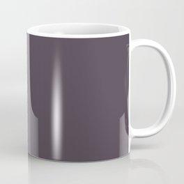 Dark Plum Purple Solid Color Parable Farrow and Ball Pelt 254 Coffee Mug