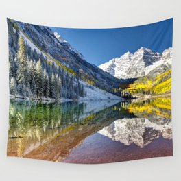Maroon Bells Colorado Wall Tapestry