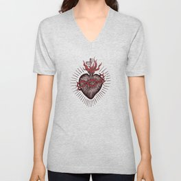 Bleeding Heart Unisex V-Neck