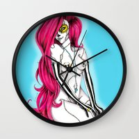 pinup Wall Clocks featuring Pinup by mojo licious