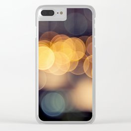 BOKEH Dots Design in Transcendence Clear iPhone Case