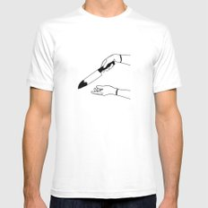 It wasn't White SMALL Mens Fitted Tee