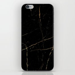 Black and gold marble iPhone Skin