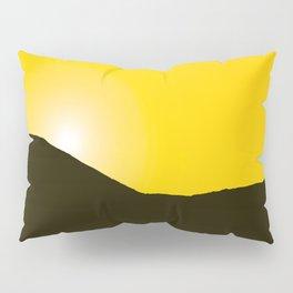 Mountain silhuette - sunrise sky - black rockymountain on yellow background - #Society6 #buyart Pillow Sham