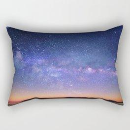 Galaxy over the Mountains Rectangular Pillow