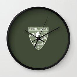 Ski June Lake California Wall Clock