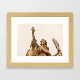 Golden Lady Framed Art Print