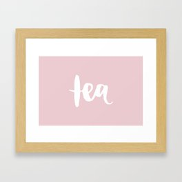 Pink Tea Framed Art Print