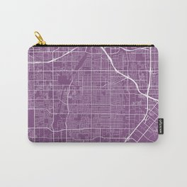 Santa Ana Map, USA - Purple Carry-All Pouch