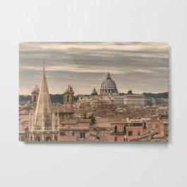 Rome Aerial View From Monte Pincio Terrace Metal Print
