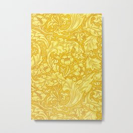 Yellow Bachelors Button by William Morris Metal Print